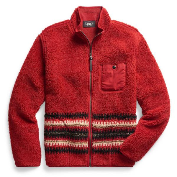 RRL by Ralph Lauren Sherpa Chimayo Rescue Liner Fleece Burnt Sienna / Chimayo