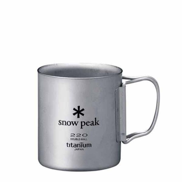 Snow Peak Double Wall 220 Mug Titanium