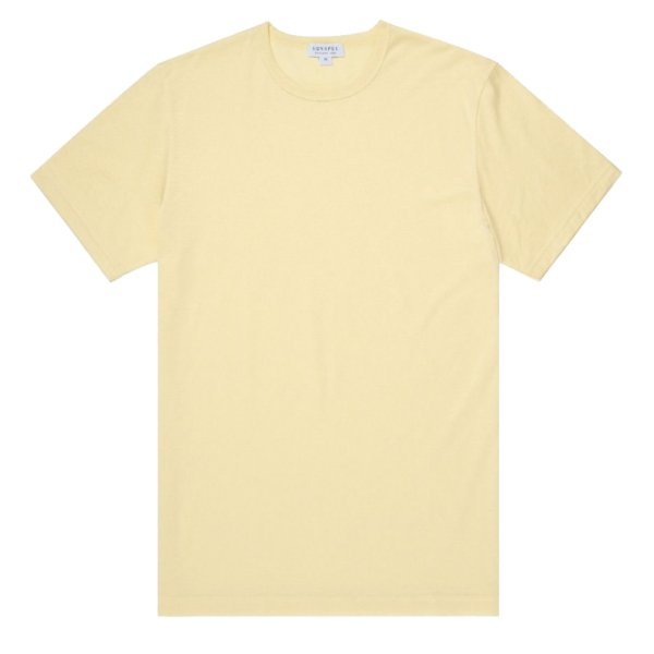 Sunspel Classic Crew T-Shirt Pale Lemon