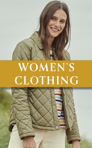 Woman wearing Barbour Quilted Jacket