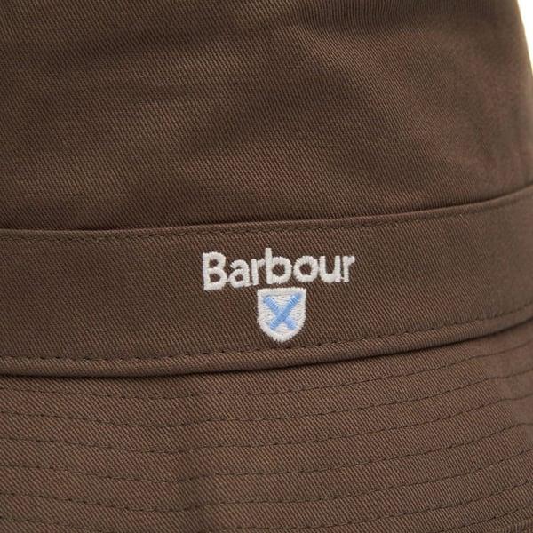 Barbour Cascade Bucket Hat Olive Embroidered Barbour Logo