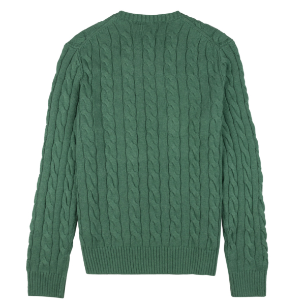 Polo Ralph Lauren Cable Knit Jumper Green Heather