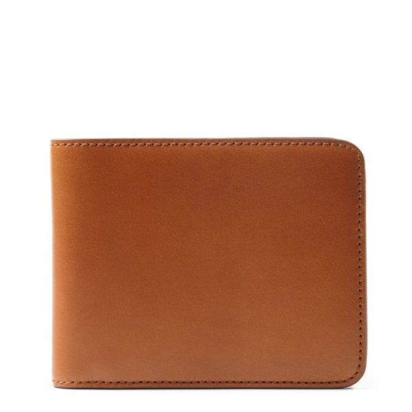 James Purdey Vegetable Tanned Leather Billfold Wallet London Tan