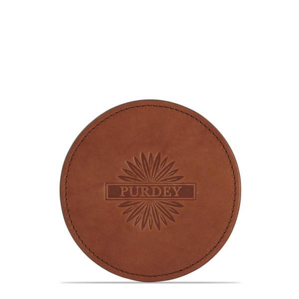 James Purdey Audley Leather Coaster Purdey Havana