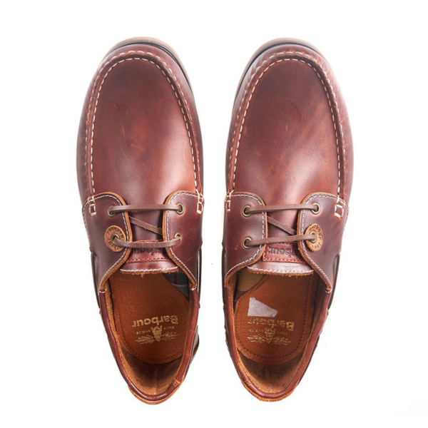 Barbour Capstan Classic Deck Shoe Mahogany
