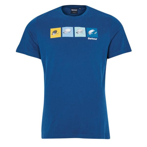 Barbour Fly Fish T-Shirt Estate Blue