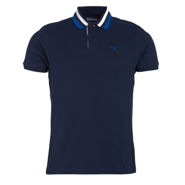 Barbour Hawkeswater Tipped Polo Shirt Navy