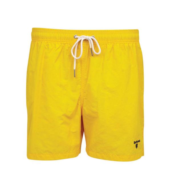 "Barbour Logo 5"" Swim Shorts Sunbleached Yellow"
