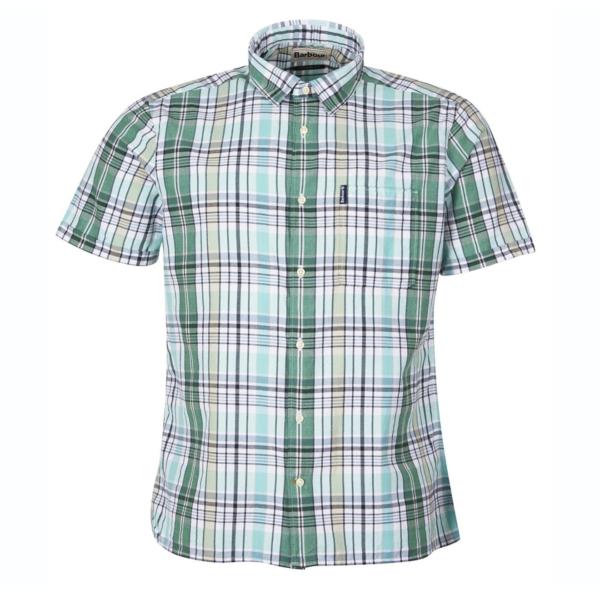 Barbour Madras 7 Summer Shirt Green