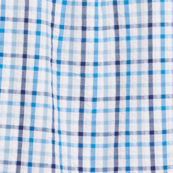Barbour Seersucker 7 Summer Shirt Inky Blue