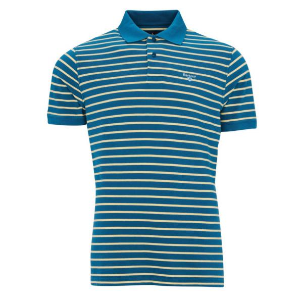 Barbour Styhead Stripe Polo Lyons Blue