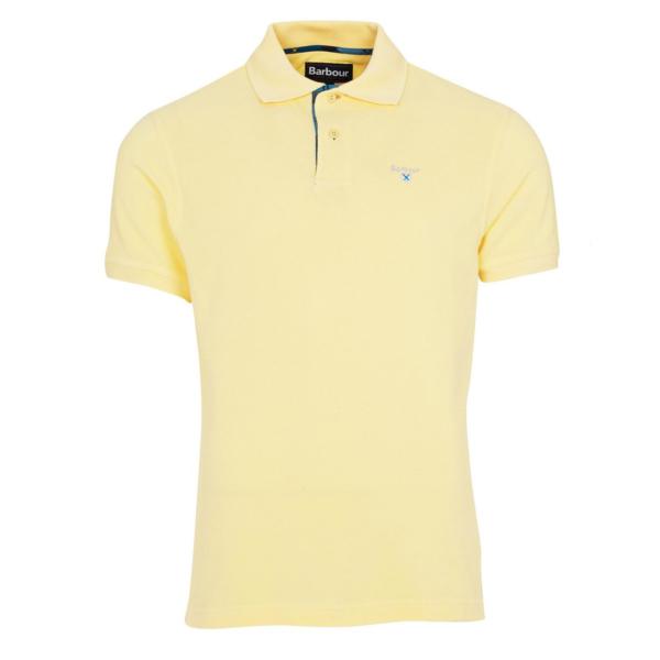 Barbour Tartan Pique Polo Shirt Corn