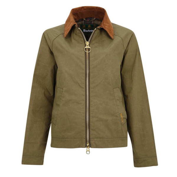Barbour Womens Campbell Showerproof Olive / Classic