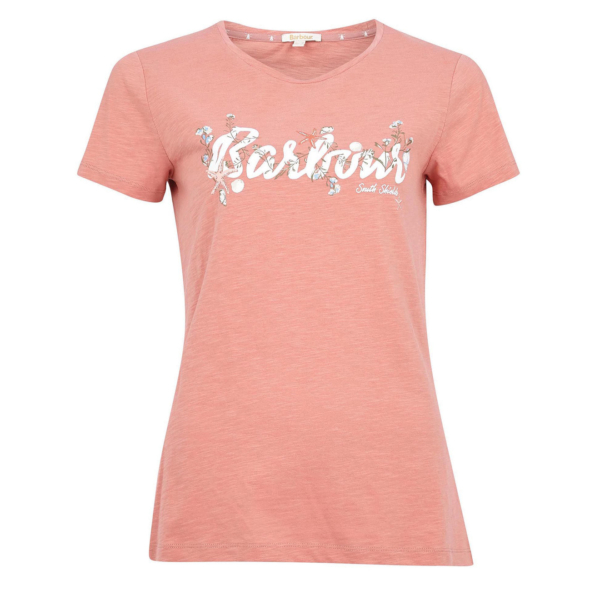 Barbour Womens Folkestone T-Shirt Rose Dawn
