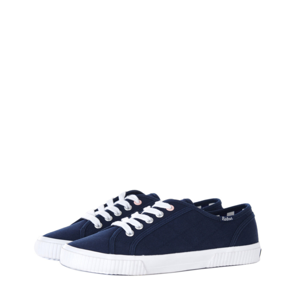 Barbour Womens Hailey Canvas Trainers Navy