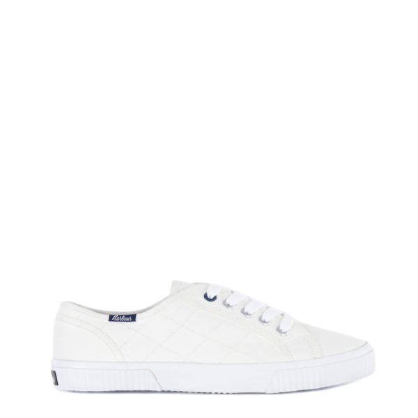 Barbour Womens Hailey Canvas Trainers White