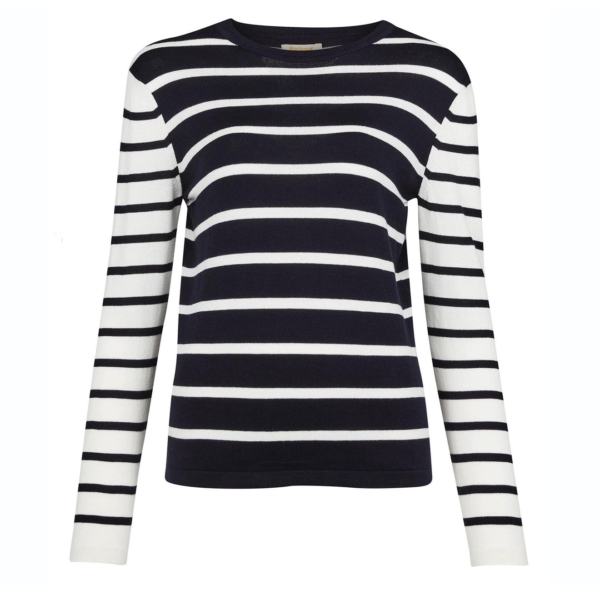 Barbour Womens Padstow Knit Navy