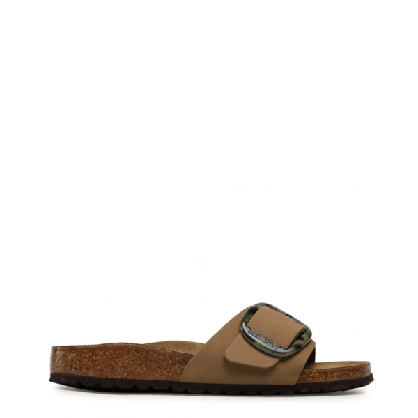 Birkenstock Womens Madrid Big Buckle Nubuck Mud Green