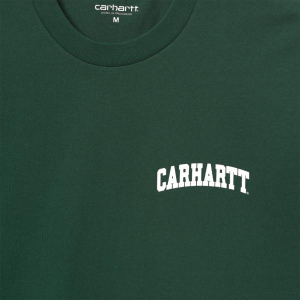 Carhartt S/S University Script T-Shirt Treehouse / White