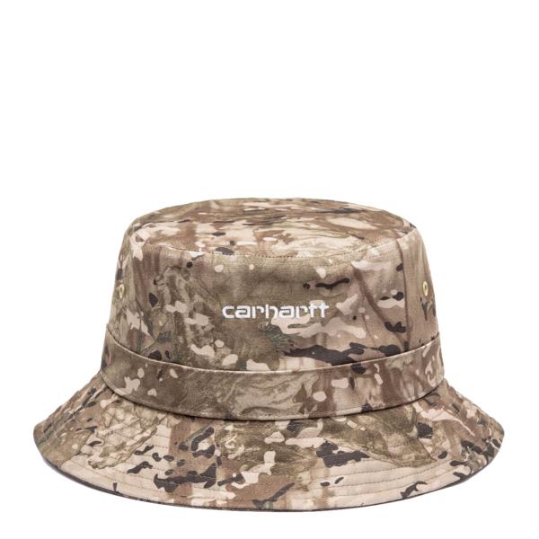 Carhartt Script Bucket Hat Camo Combi / Desert / White