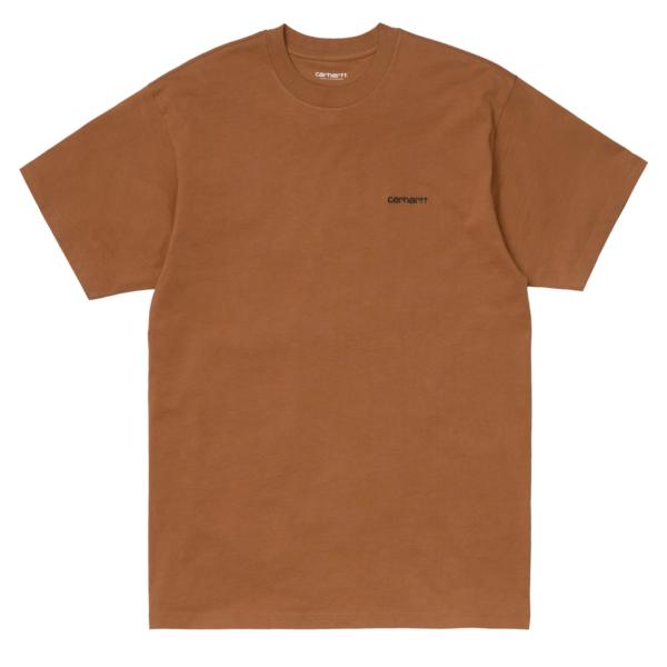Carhartt S/S Script Embroidery T-Shirt Rum / Black
