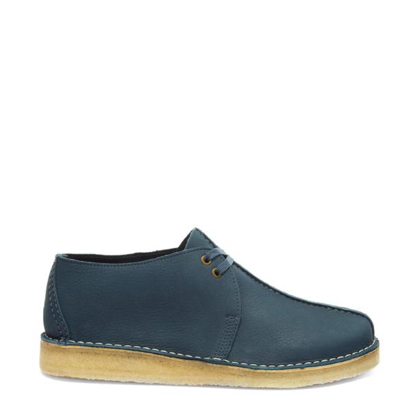 Clarks Originals Desert Trek Shoes Blue Nubuck