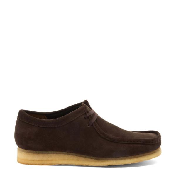 Clarks Originals Wallabee Shoes Dark Brown Suede