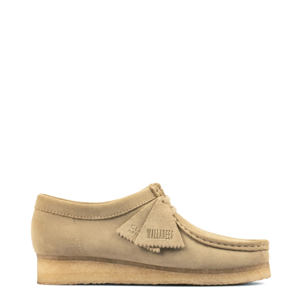 Clarks Originals Womens Wallabee Shoes Maple Suede
