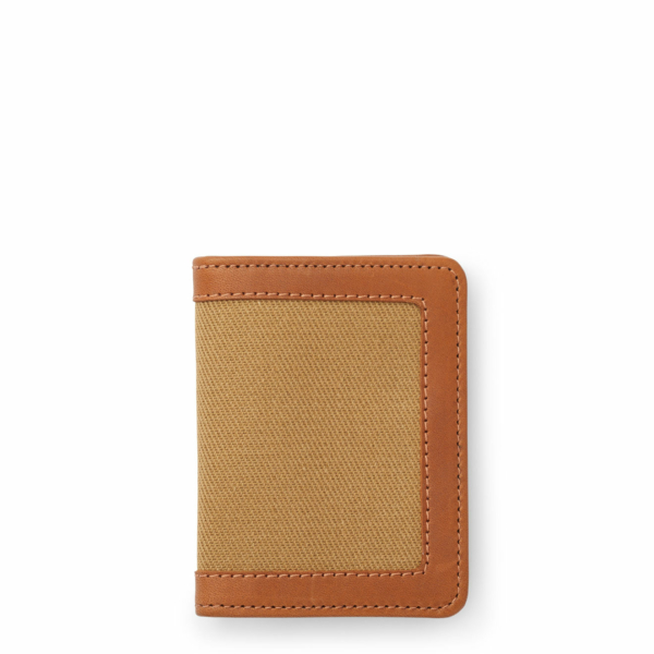 Filson Outfitter Leather Card Wallet Tan