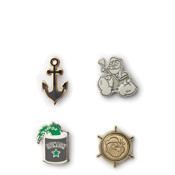 Filson Popeye Enamel Pin Set Multi