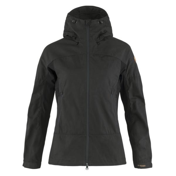 Fjallraven Womens Abisko Lite Trekking Jacket Dark Grey / Black