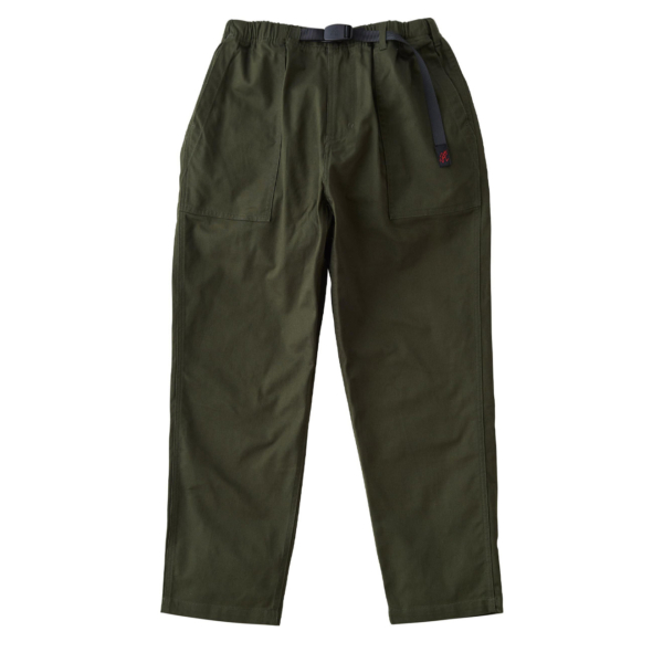 Gramicci Back Satin Loose Tapered Pants Deep Olive