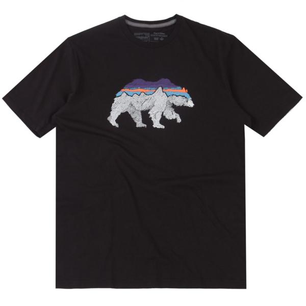 Patagonia Back For Good Organic T-Shirt Black W/Bear