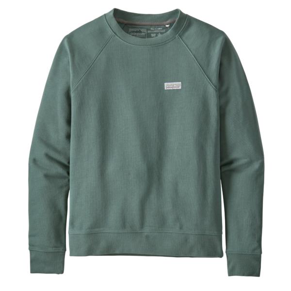 Patagonia Womens Pastel P-6 Label Organic Crew Sweatshirt Regen Green