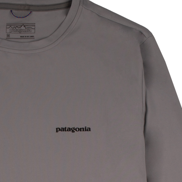 Patagonia LS Capilene Cool Daily Fish Graphic T-Shirt Woodgrain Fitz Roy Trout Salt Grey
