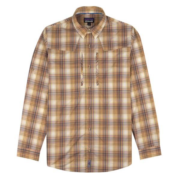 Patagonia Long Sleeve Sun Stretch Shirt Brackish / Nautilus Tan