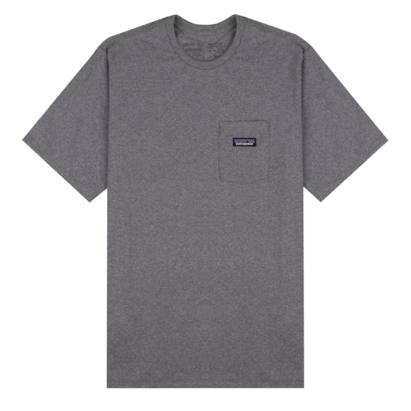 Patagonia P-6 Label Pocket Responsibili-Tee Gravel Heather