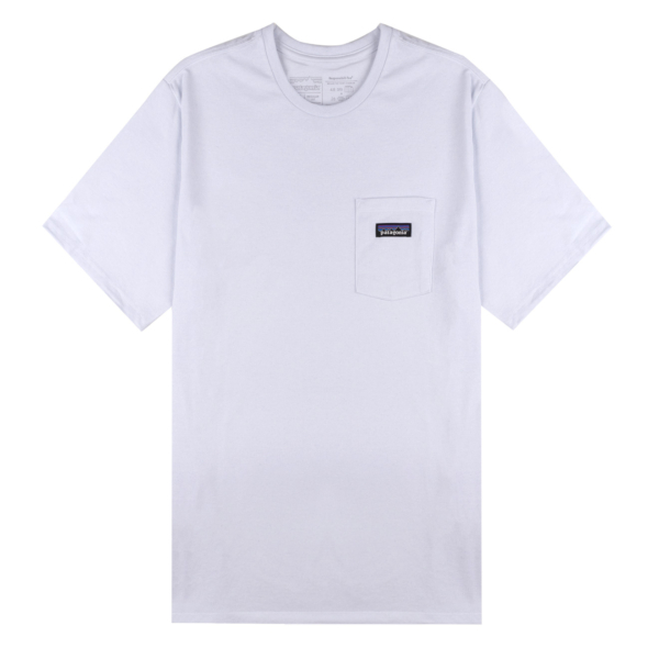 Patagonia P-6 Label Pocket Responsibili-Tee White