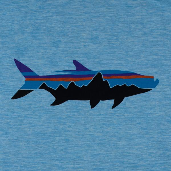 Patagonia Tropis Comfort Hoody II Fitz Roy Tarpon Lago Blue X-Dye