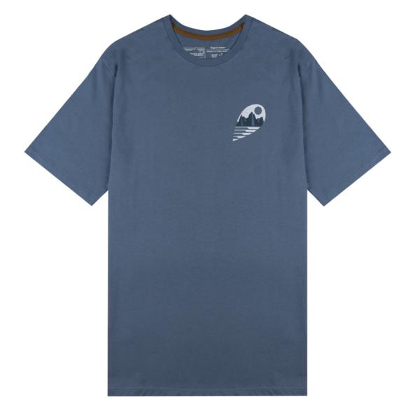 Patagonia Tube View Organic T-Shirt Pigeon Blue