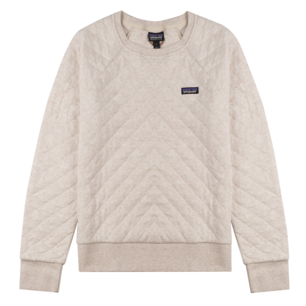 Patagonia Womens Organic Cotton Quilt Crew Sweat Dyno White