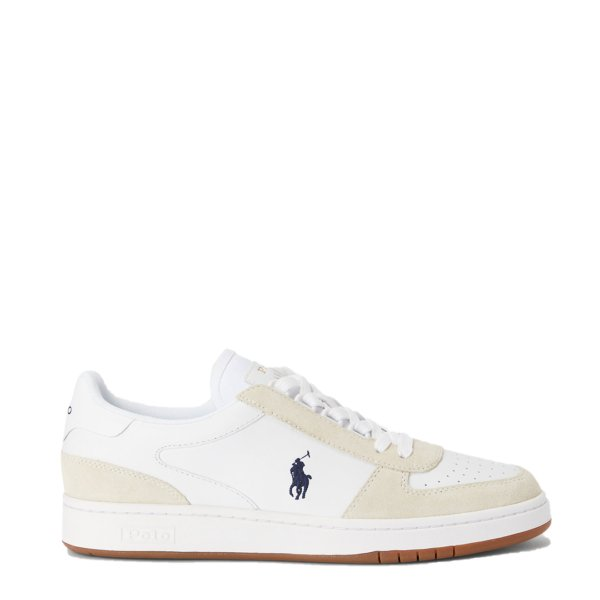 Polo Ralph Lauren Court Leather / Suede Trainer White / Newport Navy