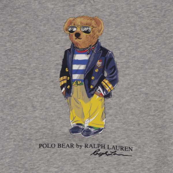 Polo Ralph Lauren Crew Bear Print Sweat Andover Heather