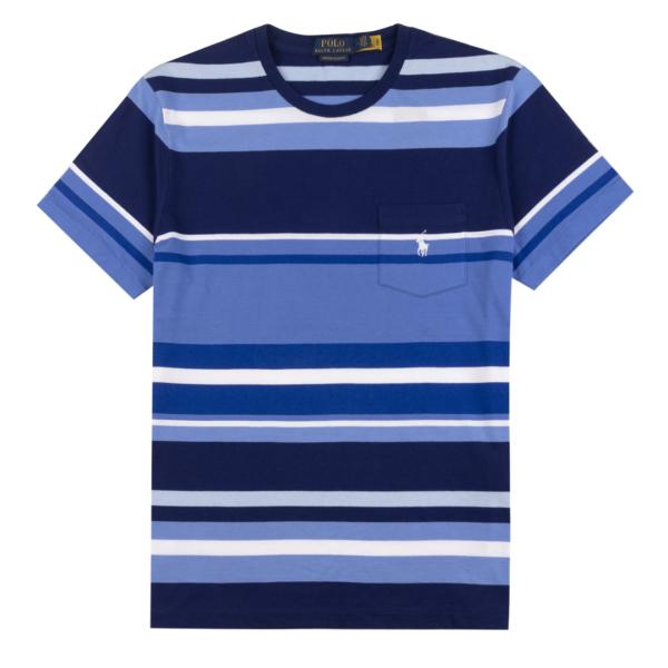 Polo Ralph Lauren Crew Stripe SS T-Shirt Harbour Island Blue Multi