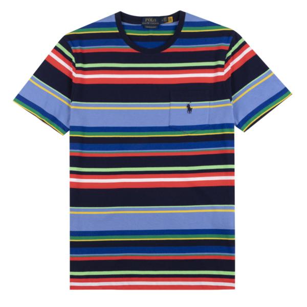 Polo Ralph Lauren Crew Stripe SS T-Shirt Newport Navy Multi