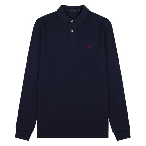 Polo Ralph Lauren Custom Slim Fit LS Polo Spring Navy Heather