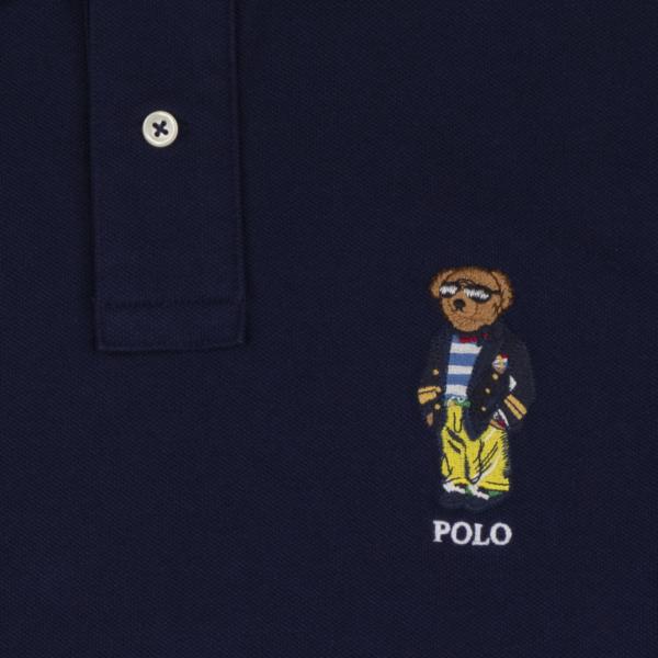 Polo Ralph Lauren Custom Slim Fit Polo Bear Polo Newport Navy