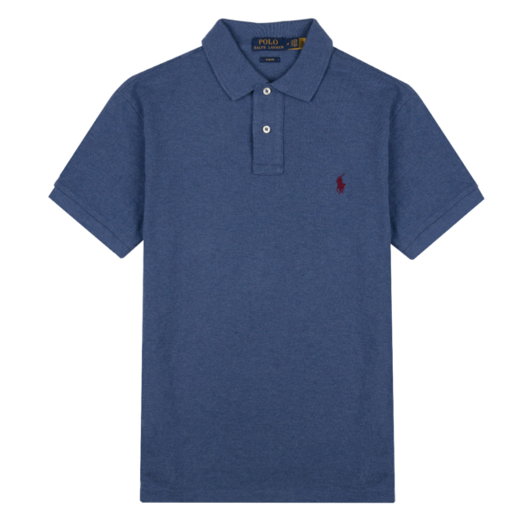 Polo Ralph Lauren Custom Slim Fit Polo Shirt Royal Heather