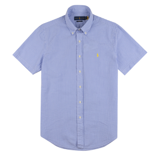 Polo Ralph Lauren Searsucker Check S/S Shirt Light Blue / White