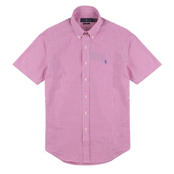 Polo Ralph Lauren Searsucker Check S/S Shirt Pink / White